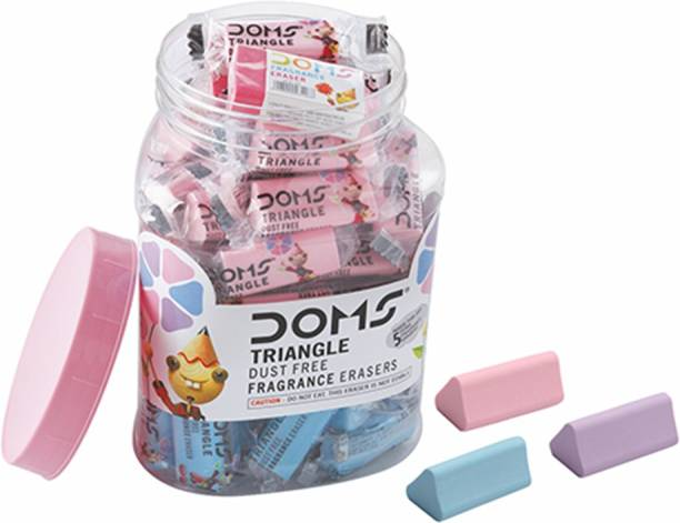 DOMS Jar of Triangular Non-Toxic Eraser