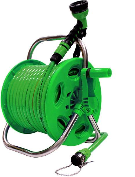 AquaHose Garden Hose Reel Green 30mtr (12.5mm ID) Hose Pipe 0 ml Wheel Tire Cleaner