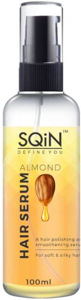 SQIN Anti-Frizz Almond Hair Serum with Wheat Germ Oil and Rosemary Oil