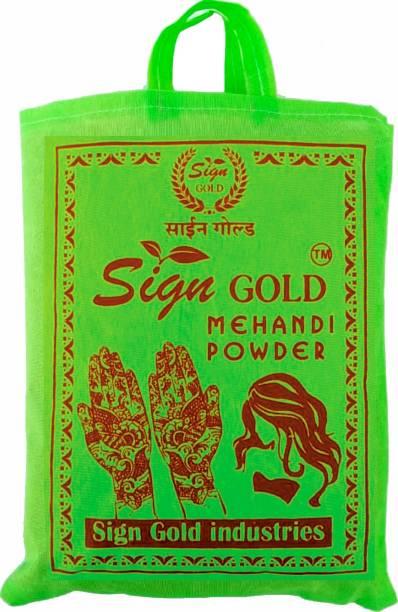 sign gold 100% Natural & Pure Organic Herbal Henna Mehandi Powder