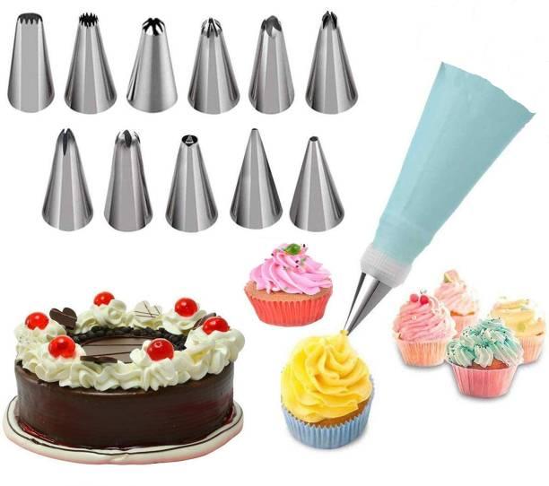 Sanchana Cake Decorating Set Plastic, Steel Multi-opening Icing Nozzle