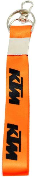 auto trends Fabric Bike Logo Hook Key Chain for Bike Lover (Orange) Key Chain