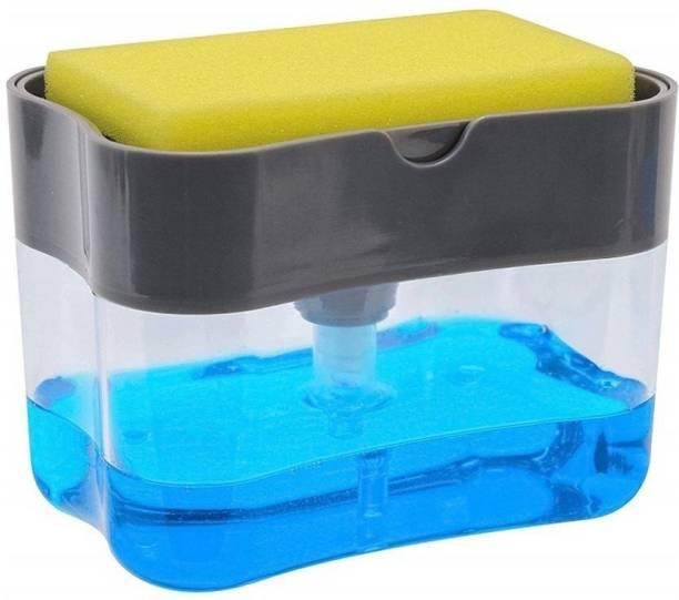 JAYSHREE EXIM 2 in 1 Soap Pump Plastic Dispenser for Dishwasher Liquid Holder 200 ml Liquid, Soap, Gel Dispenser