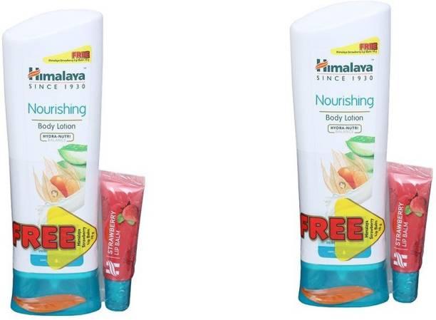 HIMALAYA Nourishing Body Lotion + Lip Balm 2 x 200 ml