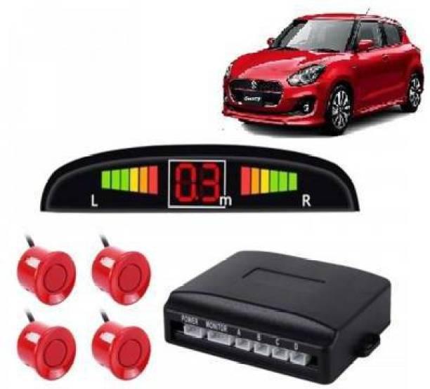 fabtec Red LED Display Car 4 Parking Sensor Reverse Backup Radar Sound Alarm System Kit Red LED Display Car 4 Parking Sensor Reverse Backup Radar Sound Alarm System Universal Parking Sensor