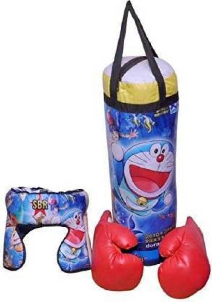 DBBB Boxing Kit (Punching Bag, Gloves and Headgear) Banana Bag