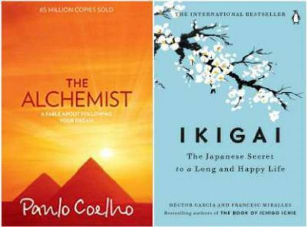 The Alchemist By Paulo Coelho + Ikigai : The Japanese Secret To A Long And Happy Life (Set Of 2 Books)