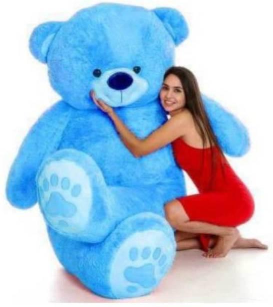 KhoLi 4 feet (Blue color) teddy bear / high quality / love teddy For girls valentine & Anniversary/Birthday gift / cute and soft teddy bear -120 cm  - 120 cm