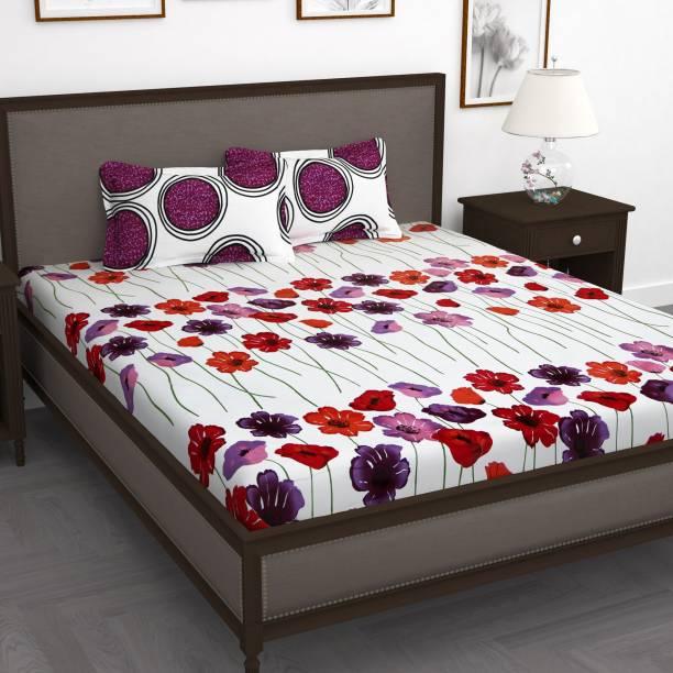 Story@home 250 TC Cotton Double Floral Bedsheet