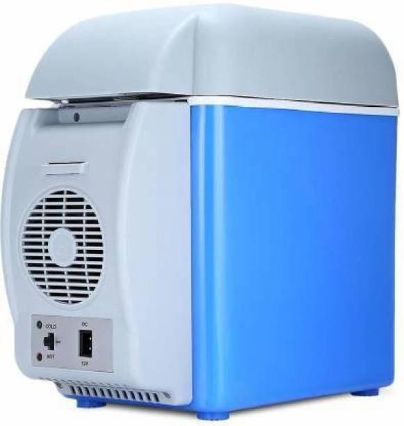 My Kitchen 5444 Mini Refrigerator Portable Fridge For travel fridge 6 L Compact Refrigerator (Blue, White) 7.5 L Car Refrigerator