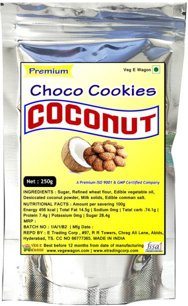 Veg E Wagon Choco Cookies Coconut ( Biscuits ) 250 g In Pouch