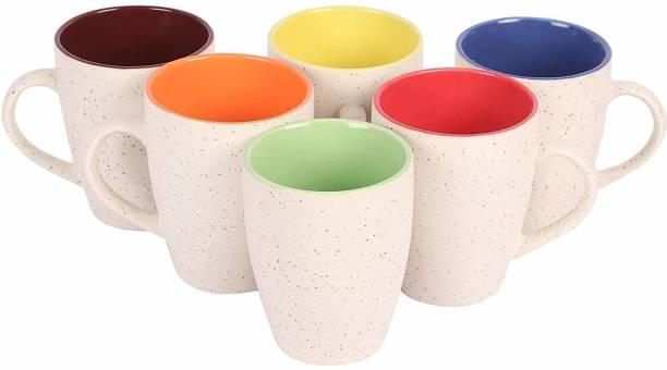 Onisha White Marvle cup 275 ml Ceramic Coffee Mug