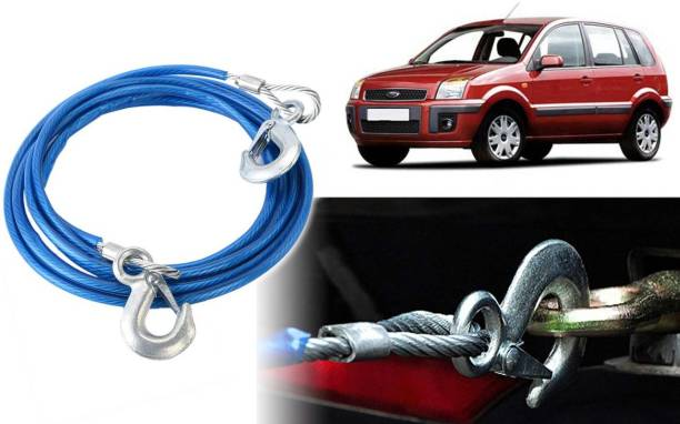 Selifaur DT89 - 12mm Heavy Duty 4Mtr 8000kgs Car Auto Full Steel Towing Tow Cable Rope For Fusion 4 m Towing Cable