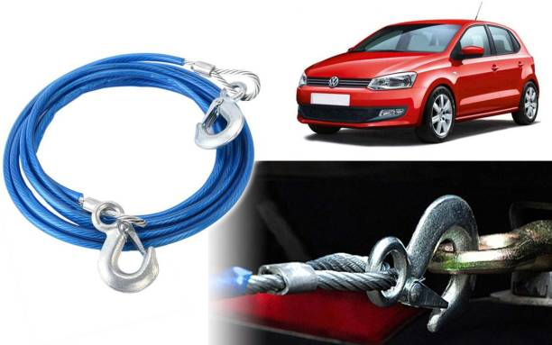 Selifaur DT380 - 12mm Heavy Duty 4Mtr 8000kgs Car Auto Full Steel Towing Tow Cable Rope For Polo 4 m Towing Cable