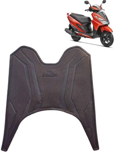 Ramanta Washable Floor Mat for Honda Grazia (1 PC, Black) Honda Grazia Two Wheeler Mat