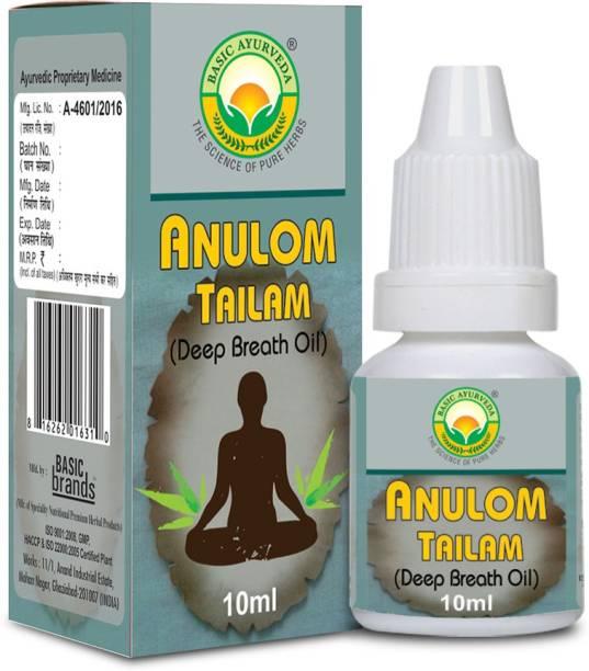 Basic Ayurveda Anulom Tailam Deep Breath Oil