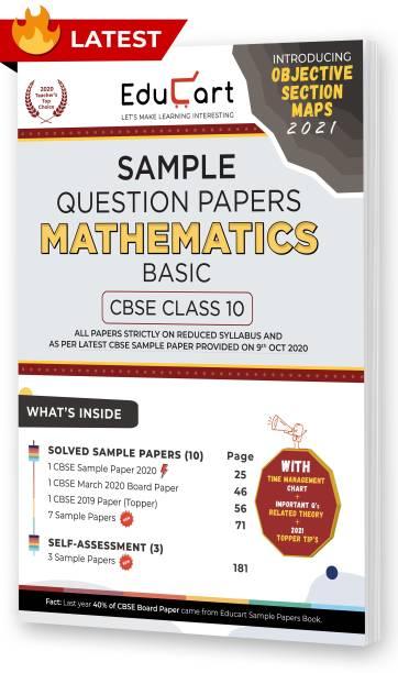 Educart CBSE Class 10 Maths 'Basic' Sample Question Papers 2021 (As Per 9th Oct CBSE Sample Paper)
