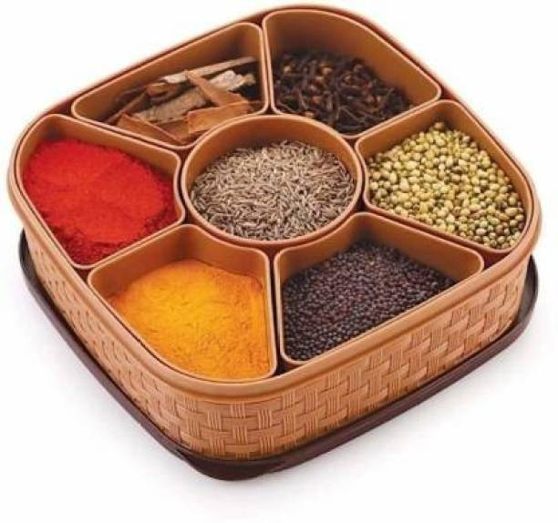 3D METRO SUPER STORE Spice Container And Masala Box  - 1000 ml Plastic Grocery Container
