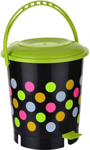 Randal New Plastic Colorful Printed ( 12 L ) - Green Plastic Dustbin