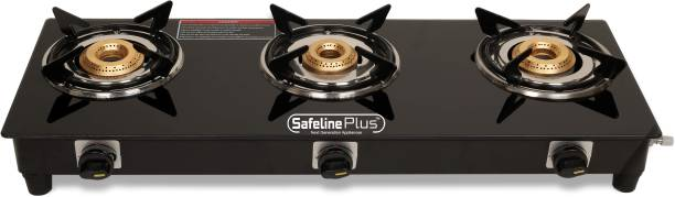 SAFELINE Plus Compactra 3 Black Stainless Steel Manual Gas Stove