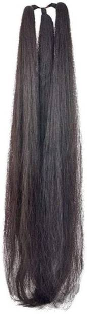 New Jaipur Handicraft Hukum Mere Aaka Natural Black  Extension /  Choti for Women /  Extension For Women And Girls Black ( Pack Of 1 ) Hair Extension