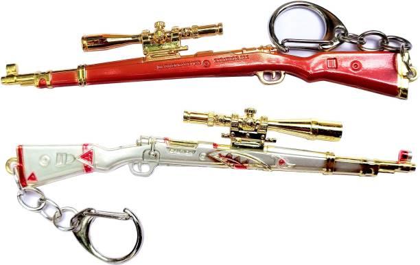 eweft Pubg Kar98 Exclusive Premium Quality Metallic Keychain Player Unknown Battle Ground Car98 Key chain PUBG Gun Sniper Key Ring / Key Chain Key Chain