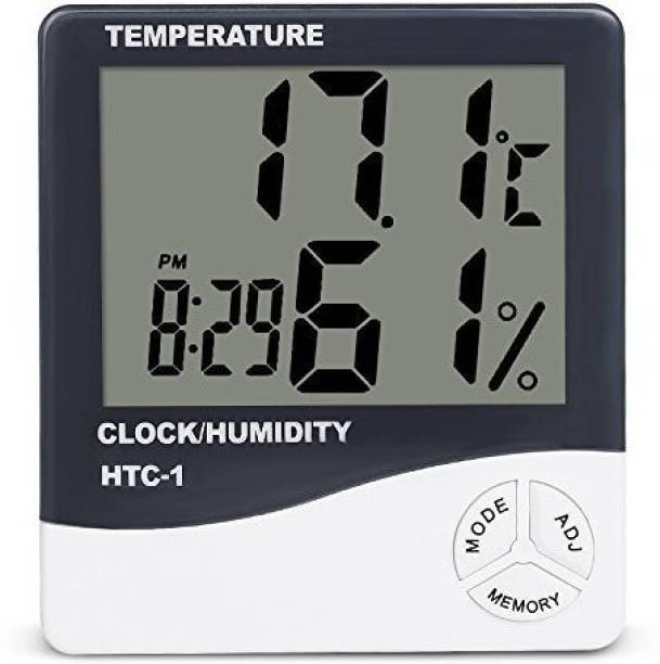 JAAP Indoor Digital Humidity Temperature Thermometer Sensor,Hygrometer Meter Gauge with LCD Display Touch Free Kitchen Thermometer