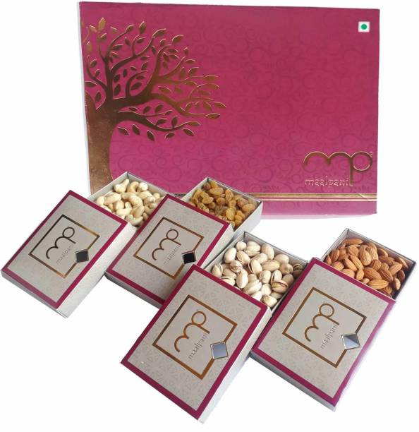 Maalpani Dry Fruits Gift Hamper Pack | Diwali Gift Hamper Box | Festival Deepavali Dryfruits | Occasion | 200g Single Pack | For Family, Friends, Corporate, Office Clients Almonds, Cashews, Pistachios, Raisins