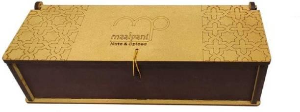 Maalpani Dry Fruits Hamper Wooden Box Pack | Gift Hamper Box | Diwali | Festival | Events | Days | Occasion | Birthday | Anniversary | Rakhi | Valentine Day | 200g Dryfruits Almonds, Cashews, Pistachios, Raisins