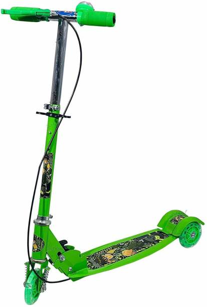 Kashtabhanjan enterprise Kids Ride On Leg Push Scooter for Boys and Girls (3 - 8 Years Old Kids) 3 Wheel Foldable Scooter Cycle with Height Adjustment for Boys and Girls