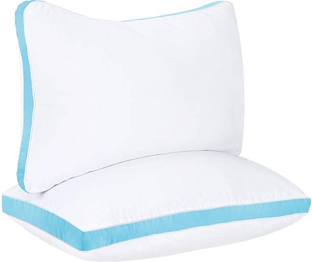 Sawar Creation Cozy Comfort Gusset Microfibre Solid Sleeping Pillow Pack of 2