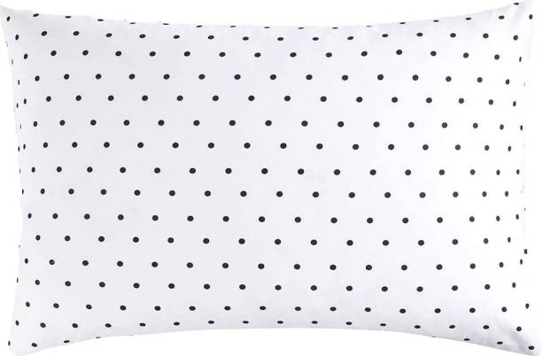 Sawar Creation Pillow With Pillow Cover Polyester Fibre Polka Sleeping Pillow Pack of 1