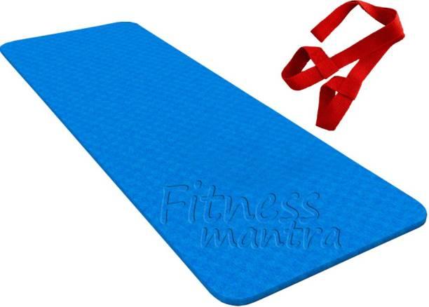 Fitness Mantra 6MM Non Slip Yoga Mat with Shoulder Strap Blue 6 mm Yoga Mat