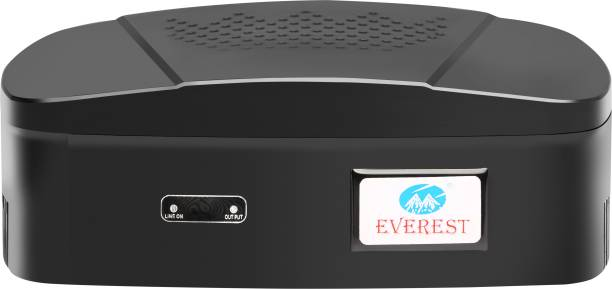 Everest ENT 60 New Model ABS Body Attractive Design Voltage Stabilizer Used Upto 32 Inches LED TV + Home Theater + Set Top Box Used 42 Inches LED TV (Working Range : 90 V to 290 V)