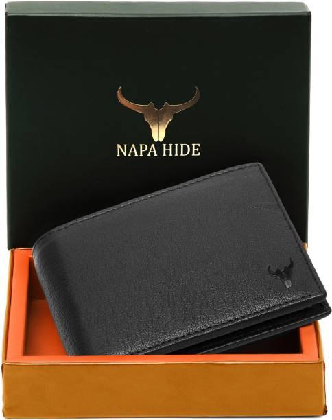 napa hide Men Black Genuine Leather Wallet