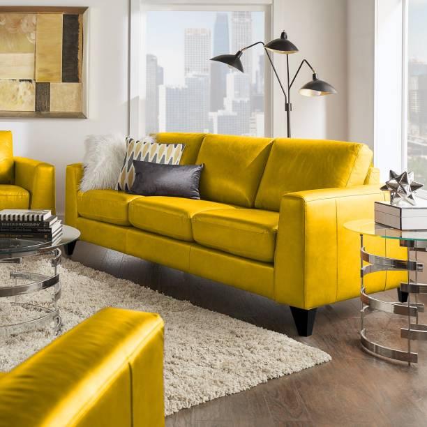 SHAKURALIVING RUSSSEL Leather 3 Seater  Sofa