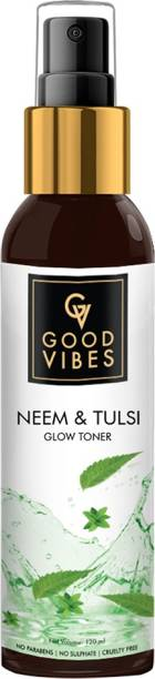 GOOD VIBES Neem & Tulsi Glow Toner for Women and Men Men & Women
