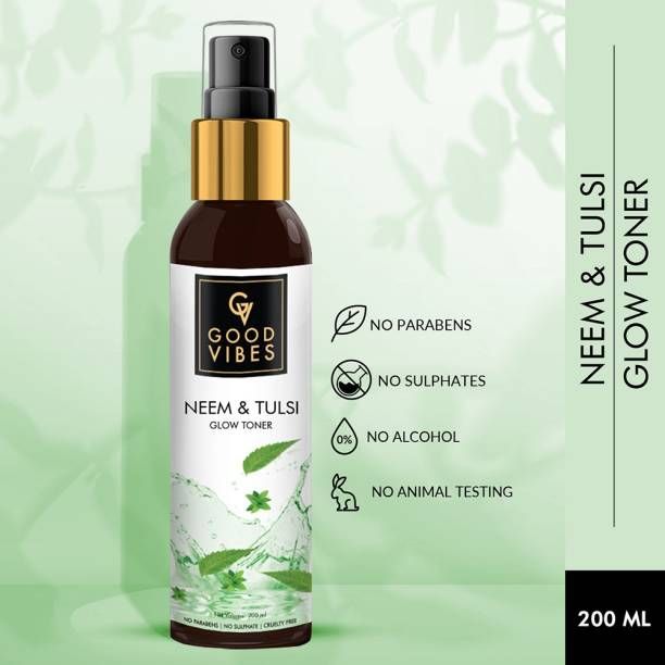 GOOD VIBES Tulsi and Neem Glow Toner for Women Women