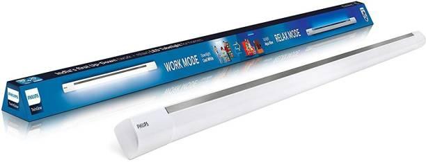 PHILIPS TwinGlow 20-Watt +20-Watt LED Up-Down Batten Tubelight (20W Aqua Blue Uplight Relax Mode | 20W White Downlight Work Mode) Aesthetic Design, Ambience of Downlight & Covelight from Philips tube light Straight Linear LED Tube Light