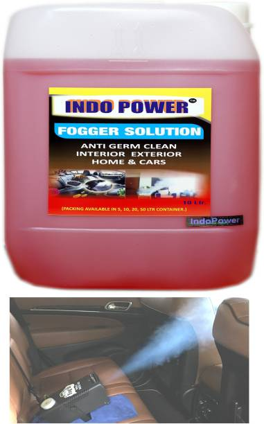 INDOPOWER FOGGER SOLUTION Anti Germ Clean (Interior Exterior Home & Cars ) 10ltr.