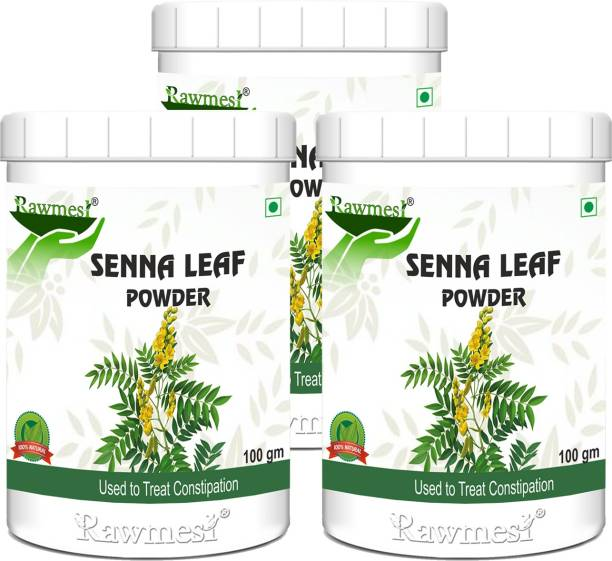 Rawmest Organic Senna Leaves Powder/Cassia Angustifolia Natural Herbal Laxative, Ayurvedic Supplement To Support Digestive Function