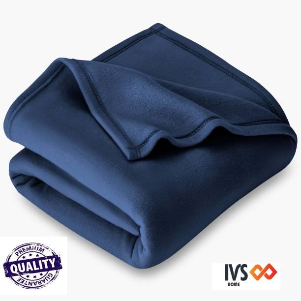 IVS HOME Self Design, Solid Single Fleece Blanket