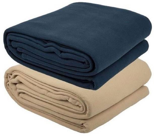 IVS HOME Self Design, Solid Double Woollen Blanket