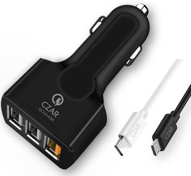 CZARTECH 7.2 Amp Qualcomm 3.0 Turbo Car Charger
