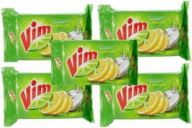 Vim Lemons Dishwash bar - (150 x 5)= 750 gm Dishwash Bar