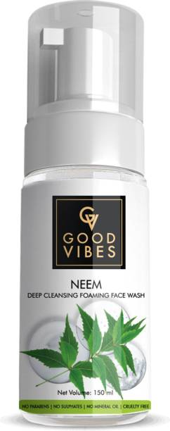 GOOD VIBES Deep Cleansing Foaming  - Neem Face Wash