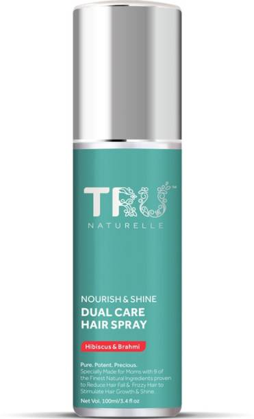 TRU NATURELLE Hair Spray For Women | Anti-Frizz & Anti-Hair Fall Hair Spray with Hibiscus & Brahmi |