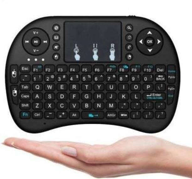 Backet Mini Wireless 2.4Ghz Keyboard Mouse with Touchpad Mouse Wireless Multi-device Keyboard (Black) Bluetooth Tablet Keyboard (Black) Bluetooth Desktop Keyboard