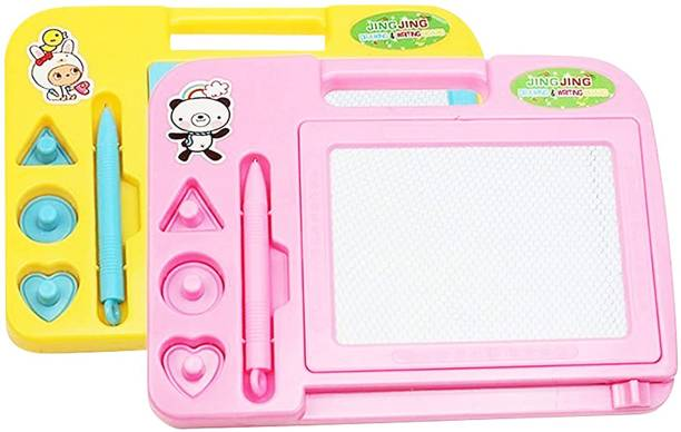 Parteet Educational Combo Pack of 2 Writing & Drawing Magic Slate for Kids