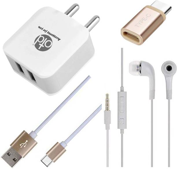 OTD Wall Charger Accessory Combo for Redmi Note 9 Pro Max, Redmi Note 9S, Zopo Speed 8, ZTE Axon 10s Pro